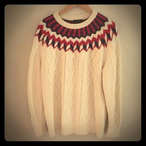 J. Crew Winter Cable Knit Sweater
